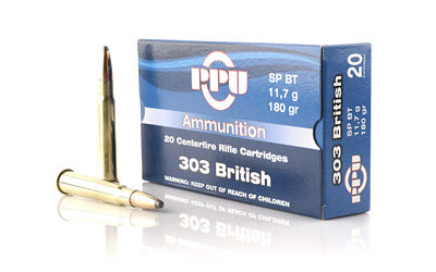 Prvi Partizan Rifle, 303 British, 180 Grain, Soft Point, 20 Round Box PP3.9