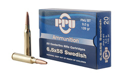 Prvi Partizan Rifle, 6.5X55 Swedish, 139 Grain, Full Metal Jacket, 20 Round Box PP6SWF