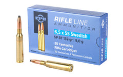 Prvi Partizan Rifle, 6.5X55 Swedish, 139 Grain, Soft Point, 20 Round Box PP6SWS