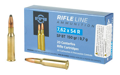 Prvi Partizan Rifle, 7.62X54R, 150 Grain, Soft Point, 20 Round Box PP76254S