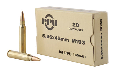Prvi Partizan Rifle, 556NATO, 55 Grain, Full Metal Jacket, 20 Round Box PPN5561