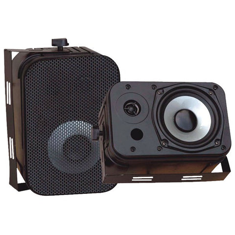 "PYLE PDWR40B 5.25"" Indoor/Outdoor Waterproof Speakers (Black)"