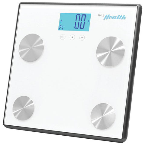 PYLE-SPORTS PHLSCBT4WT Bluetooth(R) Digital Weight & Personal Health Scale with Wireless Smartphone Data Transfer (White)