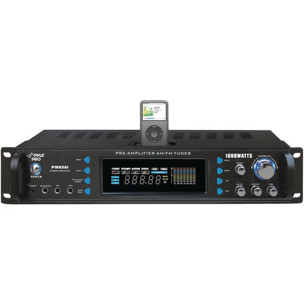 Pyle Pro P1002Ai 1,000-Watt Hybrid Receiver With Ipod(R) Dock