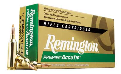 Remington Premier Accutip, 17 Remington FireBall, 20 Grain, Boat Tail, 20 Round Box 29165