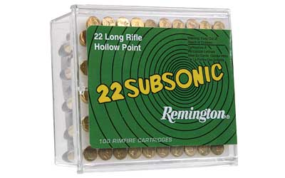 Remington Subsonic, 22LR, 38 Grain, Hollow Point 21141