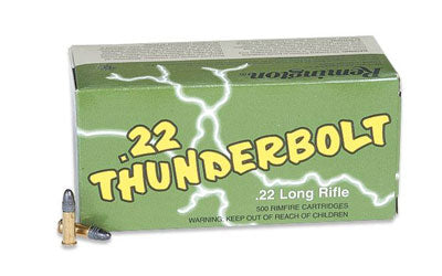 Remington Thunderbolt, 22LR, 40 Grain, Round Nose Hi-Velocity, 500 Round Case 21241