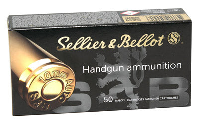Sellier & Bellot Pistol, 10MM, 180 Grain, Full Metal Jacket, 50 Round Box SB10A