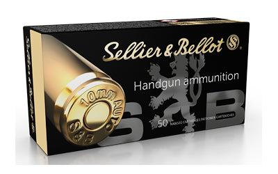 Sellier & Bellot Pistol, 10MM, 180Gr, Jacketed Hollow Point, 50 Round Box SB10B