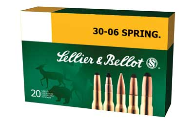 Sellier & Bellot Rifle, 30-06, 180 Grain, Full Metal Jacket, 20 Round Box SB3006A