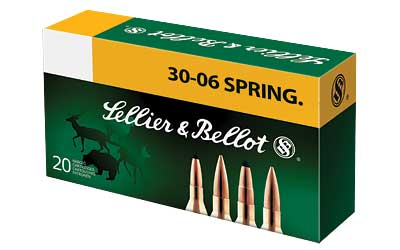 Sellier & Bellot Rifle, 30-06, 150 Grain, SPCE, 20 Round Box SB3006C