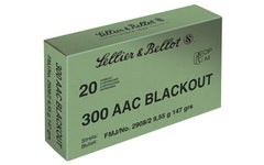 Sellier & Bellot Rifle, 300 Blackout, 147 Grain, Full Metal Jacket, 20 Round Box SB300BLKB