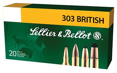 Sellier & Bellot Rifle, 303 British, 150 Grain, Soft Point, 20 Round Box SB303B