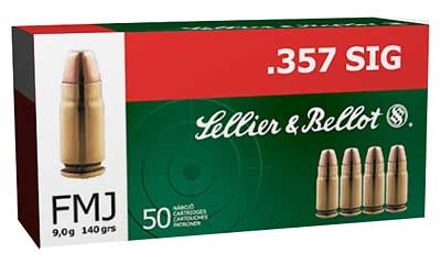 Sellier & Bellot Pistol, 357SIG, 140 Grain, Full Metal Jacket, 50 Round Box SB357SIG