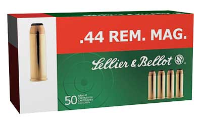 Sellier & Bellot Pistol, 44MAG, 240 Grain, Soft Point, 50 Round Box SB44A