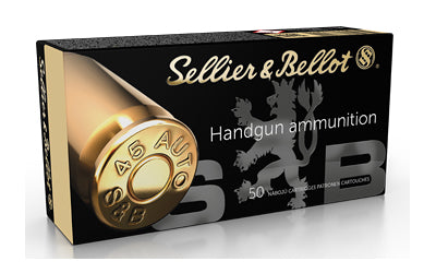 Sellier & Bellot Pistol, 45 ACP, 230 Grain, Jacketed Hollow Point, 50 Round Box SB45C