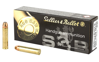 Sellier & Bellot Pistol, 460 S&W, 255 Grain, Jacketed Hollow Point, 20 Round Box SB460B