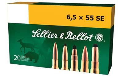 Sellier & Bellot Rifle, 6.5X55 Swedish, 140 Grain, Soft Point, 20 Round Box SB6555B