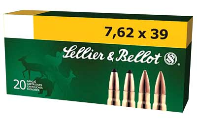 Sellier & Bellot Rifle, 762X39, 123 Grain, Full Metal Jacket, 20 Round Box SB76239A