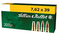 Sellier & Bellot Rifle, 762X39, 124 Grain, Full Metal Jacket, 20 Round Box SB76239A