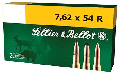 Sellier & Bellot Rifle, 762X54R, 180 Grain, Full Metal Jacket, 20 Round Box SB76254RA