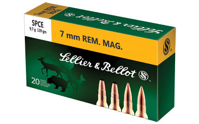 Sellier & Bellot Rifle, 7MM Rem, 139 Grain, Soft Point, 20 Round Box SB7B