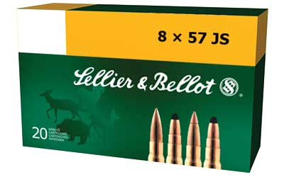 Sellier & Bellot Rifle, 8MM Mauser, 196 Grain, Soft Point Cut-Through Edge, 20 Round Box SB857JSB