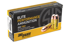 Sig Sauer Elite Performance Ball, 10MM, 180 Grain, Full Metal Jacket, 50 Round Box E10MB1-50