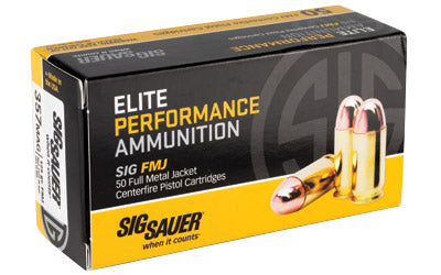 Sig Sauer Elite Performance Ball, 357MAG, 125 Grain, Full Metal Jacket, 50 Round Box E357MB-50