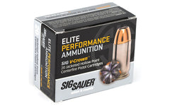 Sig Sauer Elite Performance V-Crown, 40 S&W, 180 Grain, Jacketed Hollow Point, 20 Round Box E40SW2-20