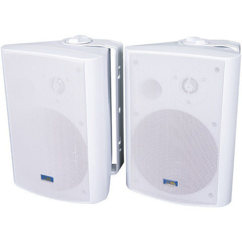 TIC CORPORATION ASP120W Indoor/Outdoor 120-Watt Speakers with 70-Volt Switching (White)