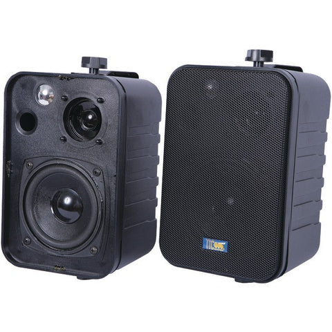 TIC CORPORATION ASP25B 3-Way Indoor/Outdoor 50-Watt Speakers (Black)