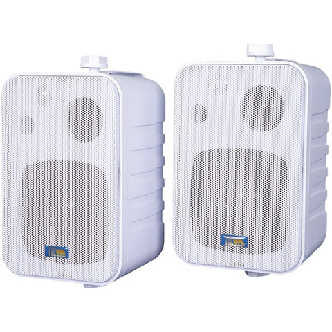 TIC CORPORATION ASP25W 3-Way Indoor/Outdoor 50-Watt Speakers (White)