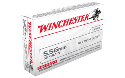 Winchester USA, 556NATO, 55 Grain, Full Metal Jacket, 20 Round Box Q3131