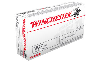 Winchester USA, 357SIG, 125 Grain, Full Metal Jacket, 50 Round Box Q4309