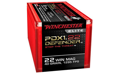 Winchester Supreme Elite, 22WMR, 45 Grain, PDX1, Jacketed Hollow Point, 50 Round Box S22MPDX1