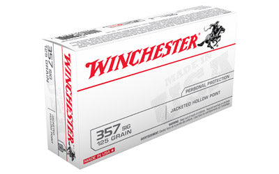Winchester USA, 357SIG, 125 Grain, Jacketed Hollow Point, 50 Round Box USA357SJHP