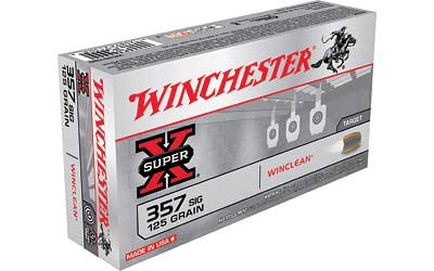Winchester USA, 357SIG, 125 Grain, Brass Enclosed Base Clean, 50 Round Box WC357SIG