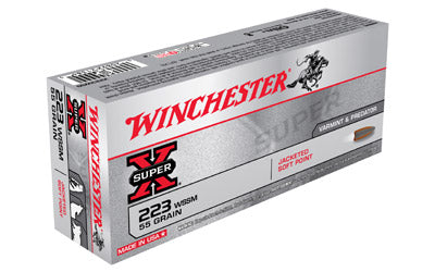 Winchester Super-X, 223 WSSM, 55 Grain, Pointed Soft Point, 20 Round Box X223WSS