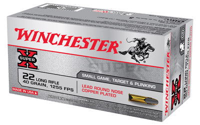 Winchester High Velocity, 22LR, 40 Grain, Lead Round Nose, 50 Round Box X22LR