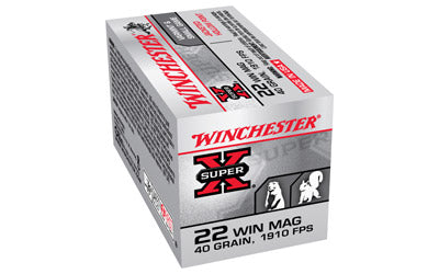Winchester Super-X, 22 WMR, 40 Grain, Jacketed Hollow Point, 50 Round Box X22MH