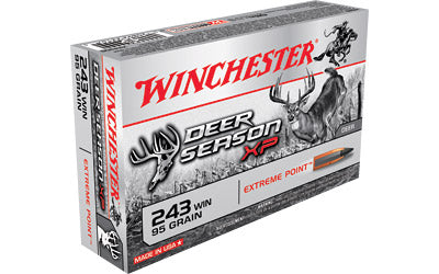 Winchester Deer Season, 243 Win, 95 Grain, Extreme Point Polymer Tip, 20 Round Box X243DS