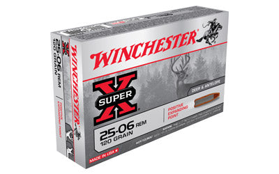 Winchester Super-X, 25-06REM, 120 Grain, Positive Expanding Point, 20 Round Box X25062