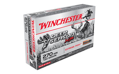 Winchester Deer Season, 270 Win, 130 Grain, Extreme Point Polymer Tip, 20 Round Box X270DS