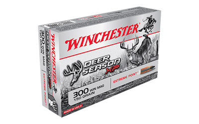 Winchester Deer Season, 300 Win, 150 Grain, Extreme Point Polymer Tip, 20 Round Box X300DS