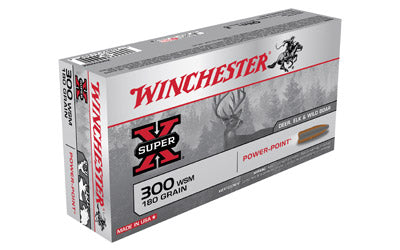 Winchester Super-X, 300 WSM, 180 Grain, Power Point, 20 Round Box X300WSM