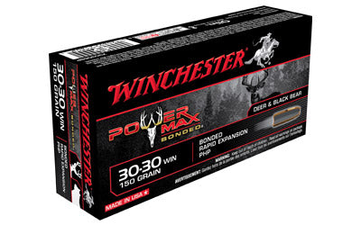 Winchester Power Max Bonded, 30-30, 150 Grain, Hollow Point, 20 Round Box X30306BP