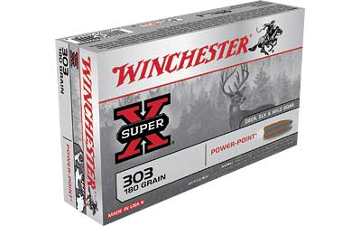 Winchester Super-X, 303 British, 180 Grain, Power Point, 20 Round Box X303B1