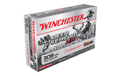 Winchester Deer Season, 308 Win, 150 Grain, Extreme Point Polymer Tip, 20 Round Box X308DS