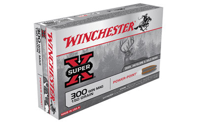 Winchester Super-X, 300 WIN MAG, 150 Grain, Power Point, 20 Round Box X30WM1